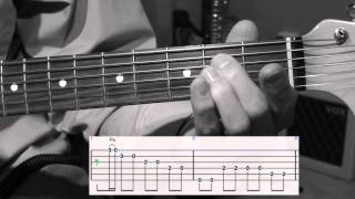 "Guitar lesson on the song ""Shakin' All Over"" by Johnny Kidd & The P..."