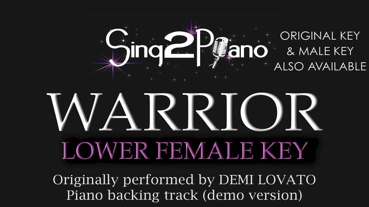 Warrior demi lovato lower female key karaoke version youtube warrior demi lovato lower female key karaoke version hexwebz Images
