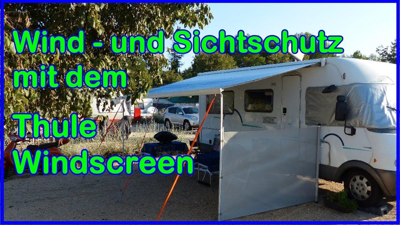 thule windscreen windschutz markise und sichtschutz f r. Black Bedroom Furniture Sets. Home Design Ideas