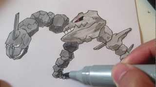 How to draw Pokemon: No.95 Onix, No.208 Steelix