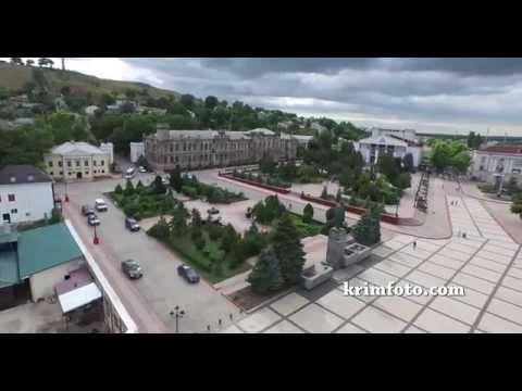 Зона отдыха в Керчи, Крым с высоты птичьего полета