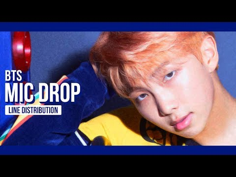 BTS - MIC Drop Line Distribution (Color Coded) | 방탄소년단
