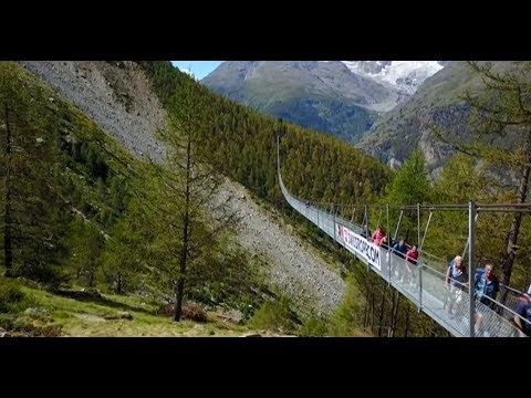 ¿Tenés vértigo? Éste es el puente colgante más largo del mundo