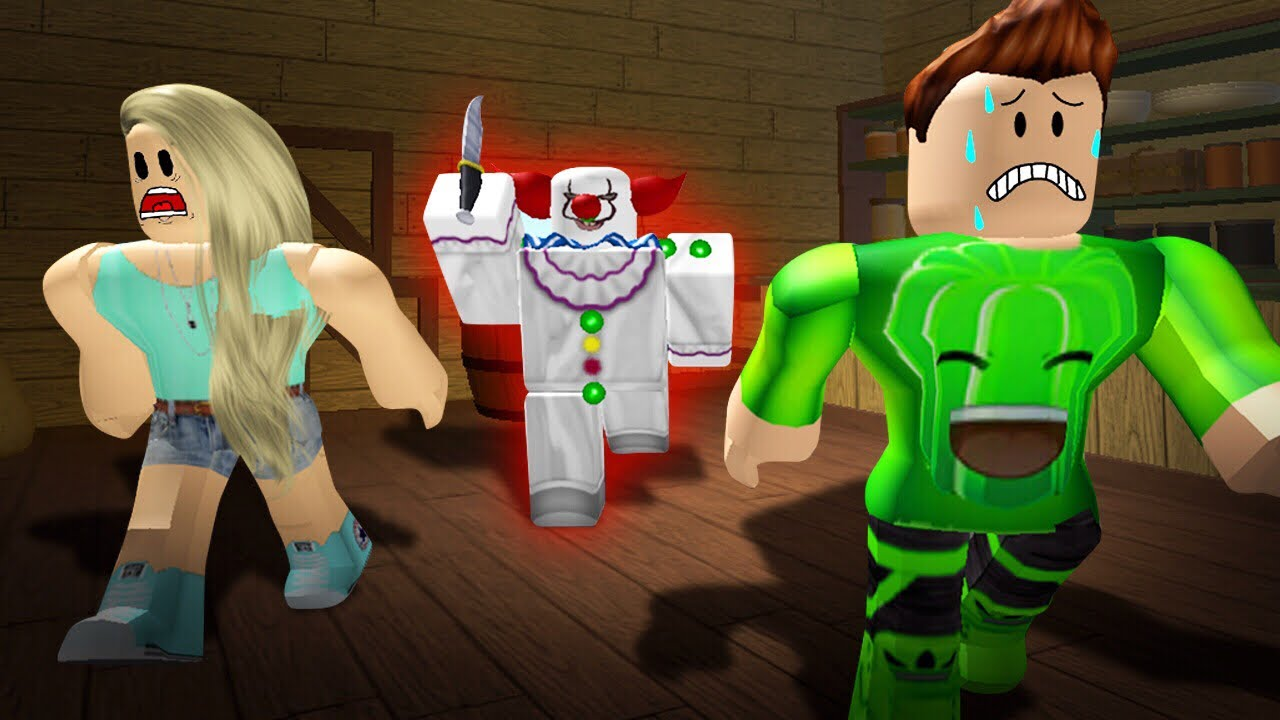 Hide From The Angry Clown Roblox Youtube