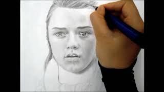 Arya Stark (Game of Thrones) Speed Drawing