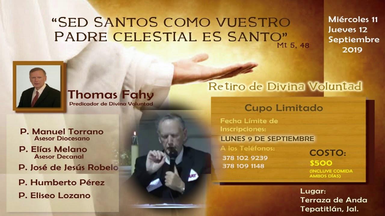 Invitación Retiro De Divina Voluntad En Tepatitlán 11 12 Sept