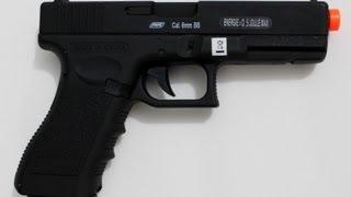 Pistola de Airsoft Eletrica CYMA AEP Glock G18C Semi e Full Auto 6mm Sem Blowback