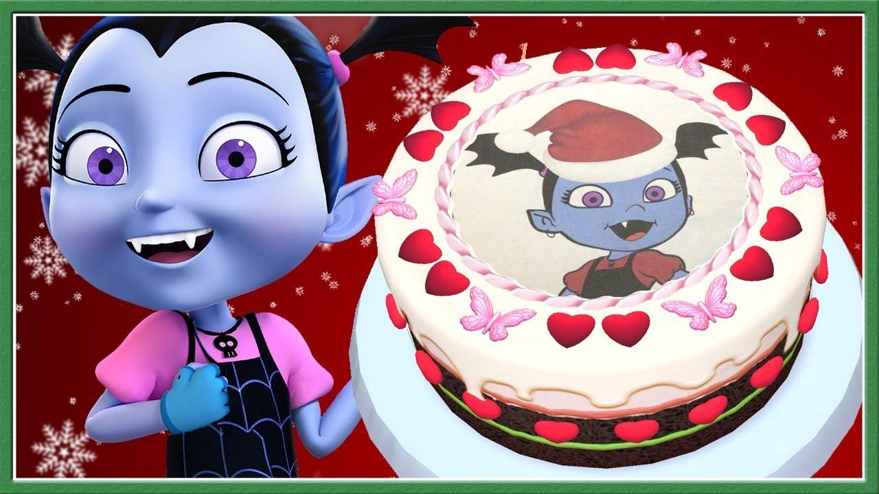 vampirina christmas birthday cake baby learn cooking cake kids real cake maker 3d