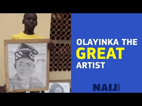 Young talented artist paints prominent Nigerians