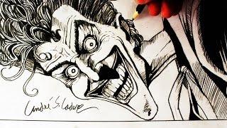 Desenhando o Coringa [A Piada Mortal] - (Drawing Joker) - HQ ART #1