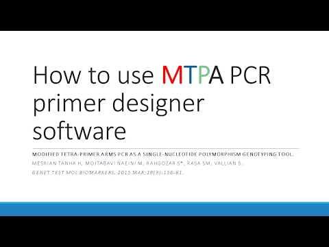 How To Use Mtpa Pcr Primer Designer Software Youtube