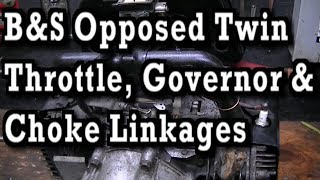 Briggs & Stratton Opposed Twin : Governor, Throttle & Choke Linkages