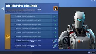New HUNTING PARTY SKIN in Fortnite! | A.I.M SKIN GAMEPLAY | WEEK 7 CHALLENGES!