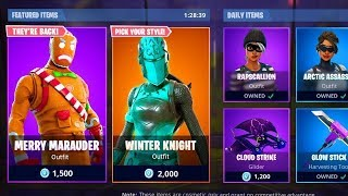 NEW CHRISTMAS SKIN à Fortnite! MERRY MARAUDER - GINGER GUNNER SKINS RETURN!