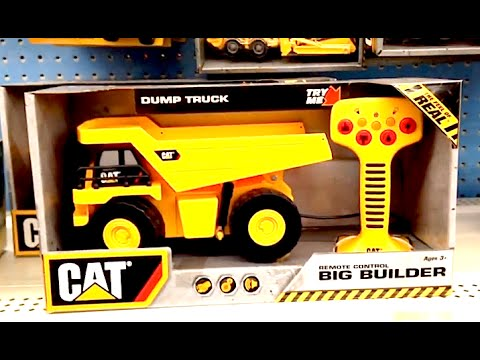 CAT DUMP TRUCK Remote Control [RC] Big Builder Tractor TOY REVIEW