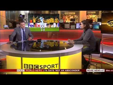 Lutz Pfannenstiel talk to BBC World News about Europa League results