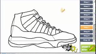 Draw jordan 11