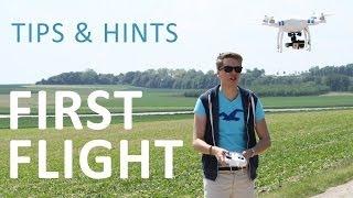 #10 DJI Phantom Tutorial - First Flight (Tips & Hints)