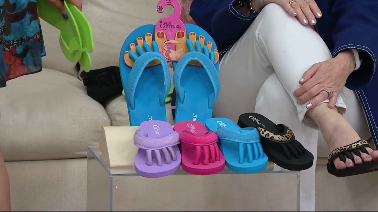 4ef6ce05b Pedi Couture On-the-Go Pedicure Sandal on QVC - YouTube