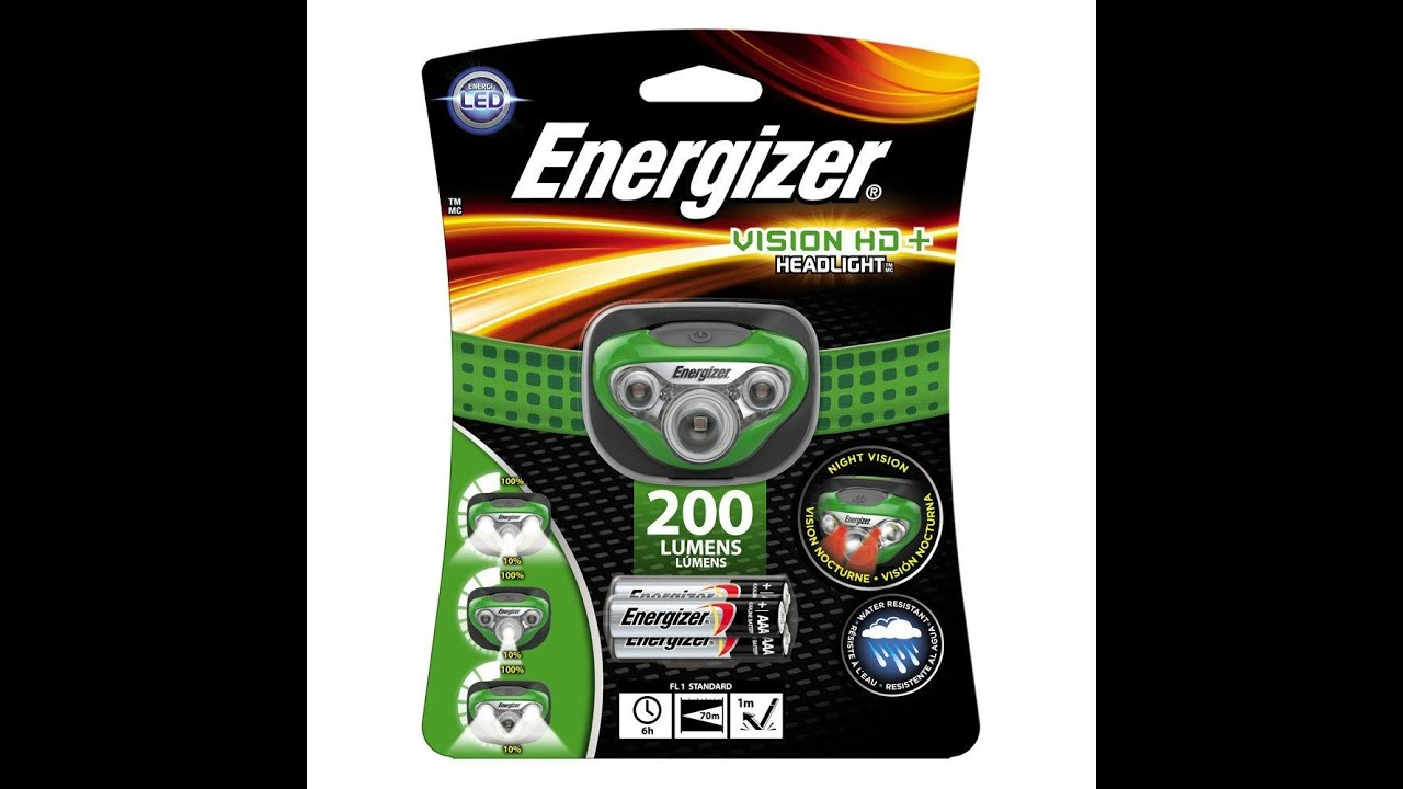 Focus Headlight with 3 x AAA Energizer Max batteries 315 lm Energizer Vision HD