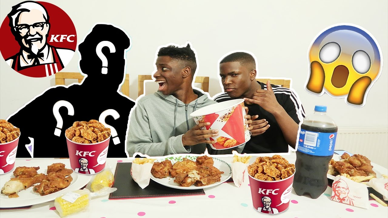 Kfc Challenge Vs My Brother And Dad Impossible Food