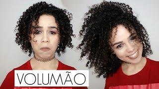 VOLUME SEM PERDER DEFINIÇÃO! CABELO CACHEADO| Claudia Amorim