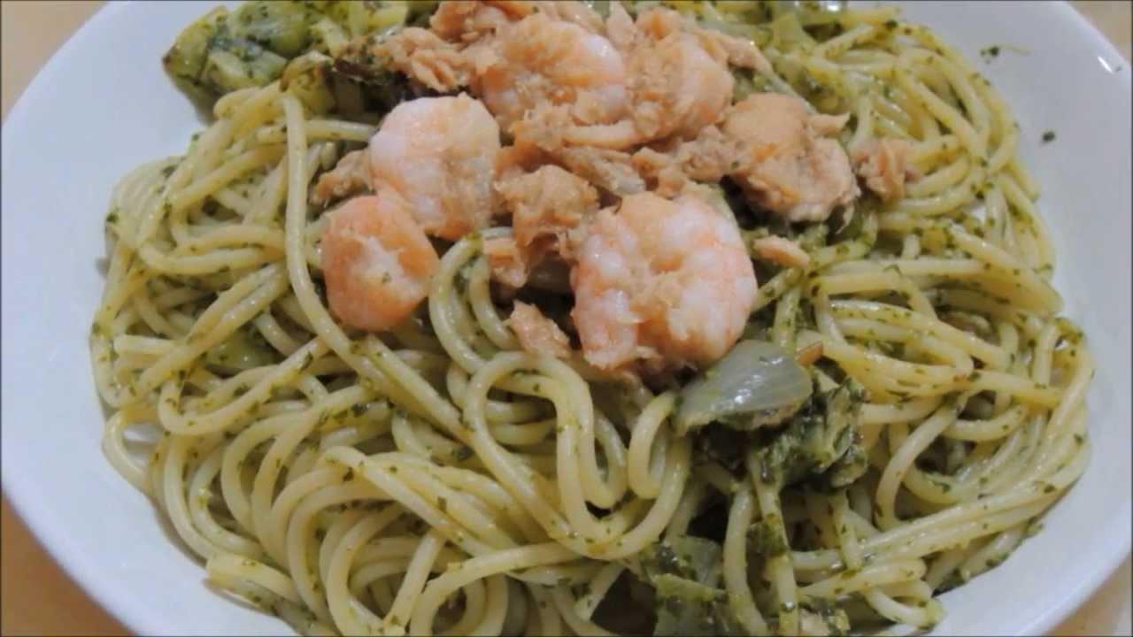 pesto seafood pasta