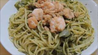 Seafood Pesto Spaghetti (easy Fast And Healthy)