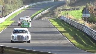 Nürburgring Nordschleife Old Cars in Race Action Youngtimer Trophy