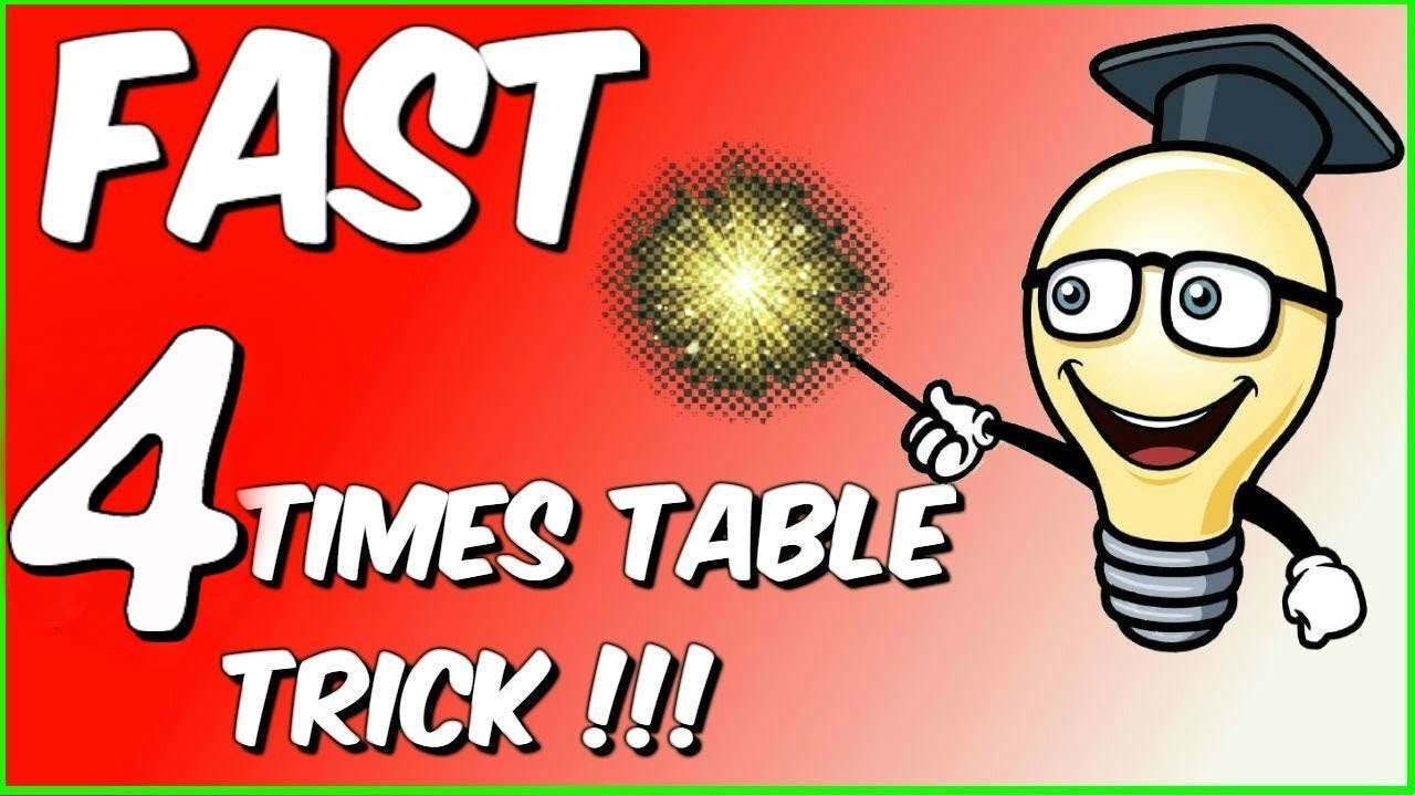 Fast 4 Times Table Trick The Brick Method