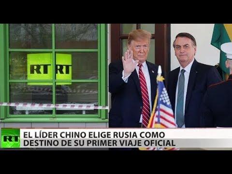Los periodistas de RT, llenos de odio, opinan sobre Trump y Bolsonaro y hacen reír a todo el mundo.