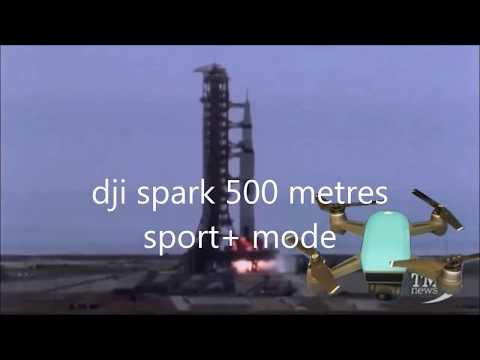 dji spark rocket mode sport + 500 metres hight in 85 seconds