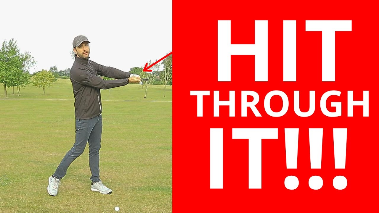 HIT THROUGH THE GOLF BALL WITH THIS SIMPLE DRILL