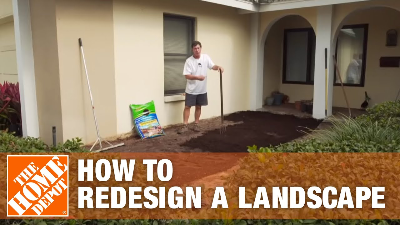 How To Redesign a Landscape  The Home Depot Gardenieres  YouTube