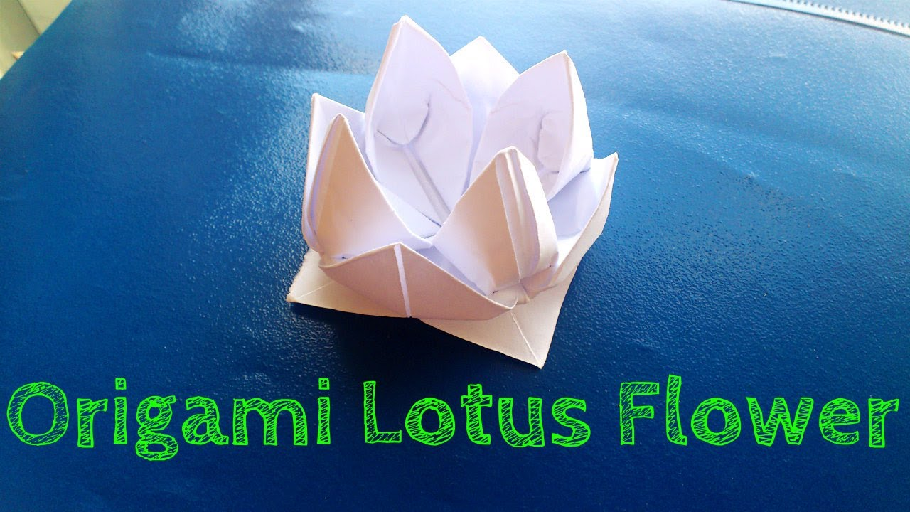 Lotus Flower Napkin Fold Step By Step : Origami Flower (Easy Lotus Model)  YouTube