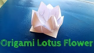 How To Make An Origami Lotus Flower (easy)