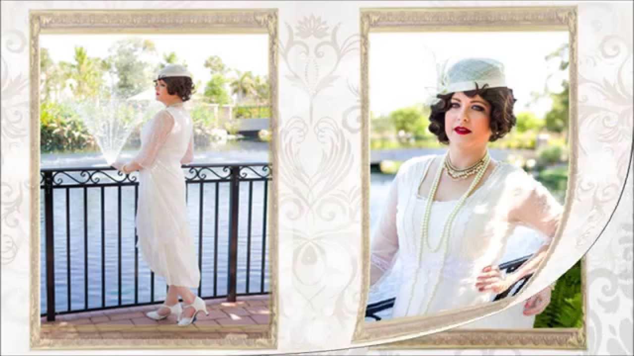 1920s Inspired Wedding Fashions from Blue Velvet Vintage - YouTube