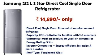 Samsung 212 L 3 Star Direct Cool Single Door Refrigerator details and reviews