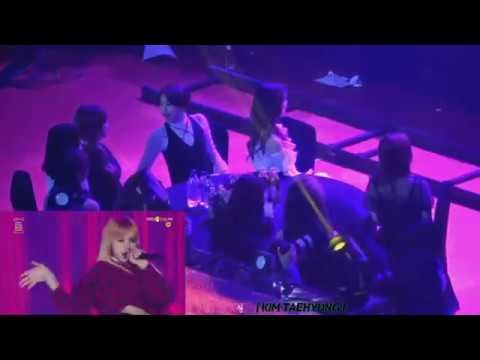 TWICE Reaction To BLACKPINK - PLAYING WITH FIRE + BOOMBAYAH (2017 Seoul Music Awards 170119)