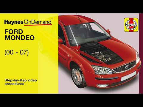 Fix your Ford Mondeo (2003 - 2007) with Haynes's video tutorials