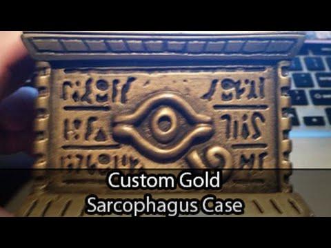 Custom Yugioh Gold Sarcophagus Treasure Deck Box