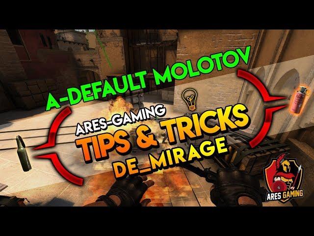 Tips & tricks: DE_MIRAGE A-SITE DEFAULT MOLOTOV [CS:GO] 2019 by ares-gaming