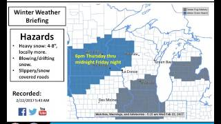 Winter Storm Thursday Night-Friday Night