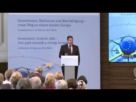 Europakonferenz: Eröffnungsrede von Sigmar Gabriel, Bundesminister für Wirtschaft und Energie