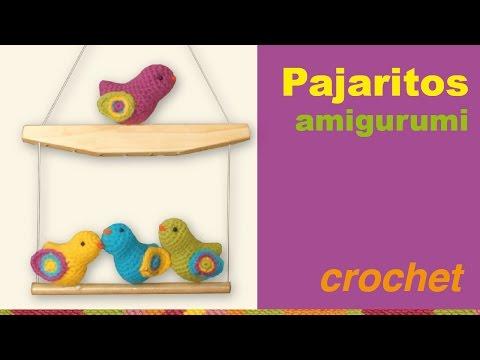 Pajaritos amigurumi (tejidos a crochet) / English subtitlles: amigurumi birds