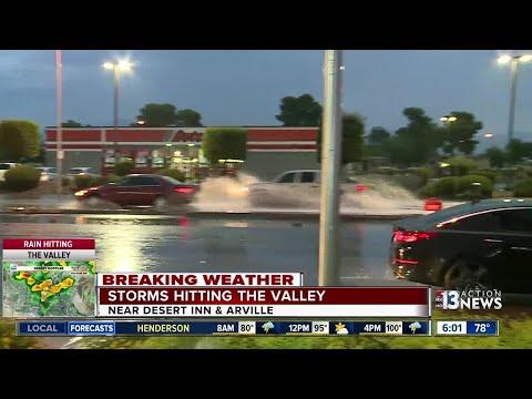 Storms hitting the Las Vegas valley