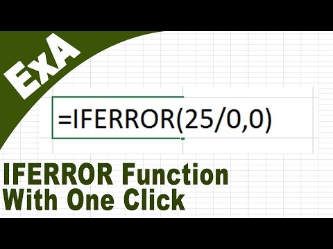 IFERROR Function with Excel VBA (how to create Excel Addins) [HD]