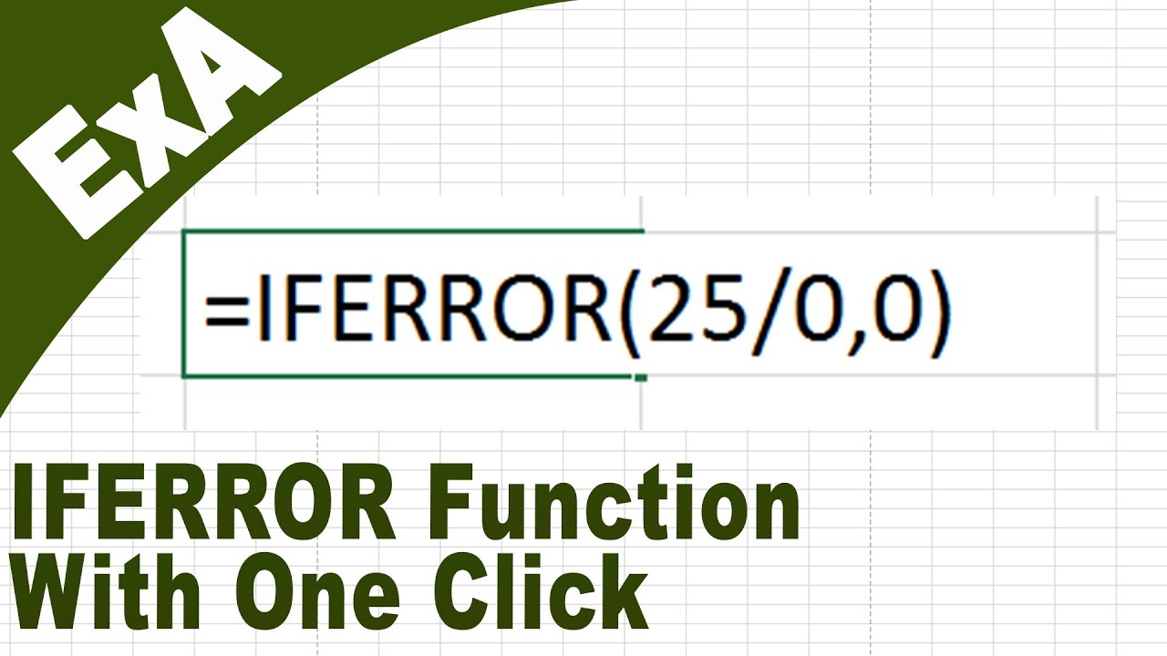 Iferror Function With Excel Vba How To Create Excel Addins Hd