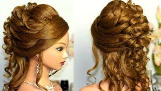 Свадебная прическа для длинных  и средних волос.(Мой первый канал - http://www.youtube.com/user/womenbeauty1 Facebook https://www.facebook.com/pages/Womenbeauty1/369029276535217 Инстаграм., 2015-04-23T12:48:12.000Z)