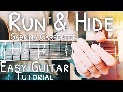 Run and Hide Sabrina Carpenter Guitar Tutorial // Run and Hide Guitar // Lesson #470